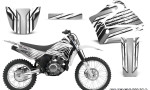 Yamaha TTR125 CreatorX Graphics Kit Chromium White NP Rims 150x90 - Yamaha TTR125 2000-2019 Graphics