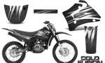 Yamaha TTR125 CreatorX Graphics Kit Cold Fusion Black NP Rims 150x90 - Yamaha TTR125 2000-2019 Graphics