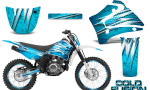 Yamaha TTR125 CreatorX Graphics Kit Cold Fusion BlueIce NP Rims 150x90 - Yamaha TTR125 2000-2019 Graphics