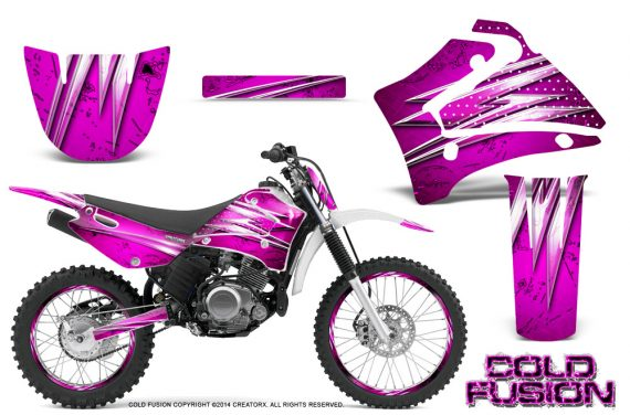 Yamaha TTR125 CreatorX Graphics Kit Cold Fusion Pink NP Rims 570x376 - Yamaha TTR125 2000-2019 Graphics