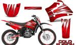 Yamaha TTR125 CreatorX Graphics Kit Cold Fusion Red NP Rims 150x90 - Yamaha TTR125 2000-2019 Graphics