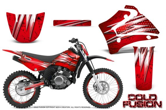Yamaha TTR125 CreatorX Graphics Kit Cold Fusion Red NP Rims 570x376 - Yamaha TTR125 2000-2019 Graphics