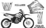 Yamaha TTR125 CreatorX Graphics Kit Cold Fusion White NP Rims 150x90 - Yamaha TTR125 2000-2019 Graphics