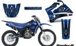 Yamaha TTR125 CreatorX Graphics Kit SpiderX Blue NP Rims 150x90 - Yamaha TTR125 2000-2019 Graphics