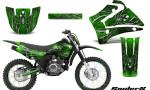Yamaha TTR125 CreatorX Graphics Kit SpiderX Green NP Rims 150x90 - Yamaha TTR125 2000-2019 Graphics