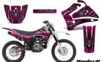 Yamaha TTR125 CreatorX Graphics Kit SpiderX Pink NP Rims 150x90 - Yamaha TTR125 2000-2019 Graphics