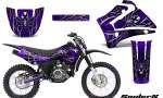 Yamaha TTR125 CreatorX Graphics Kit SpiderX Purple NP Rims 150x90 - Yamaha TTR125 2000-2019 Graphics