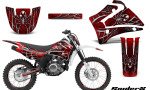 Yamaha TTR125 CreatorX Graphics Kit SpiderX Red NP Rims 150x90 - Yamaha TTR125 2000-2019 Graphics