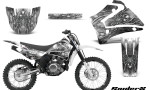 Yamaha TTR125 CreatorX Graphics Kit SpiderX White NP Rims 150x90 - Yamaha TTR125 2000-2019 Graphics