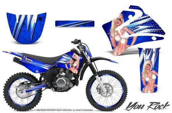 Yamaha TTR125 CreatorX Graphics Kit You Rock Blue NP Rims 570x376 - Yamaha TTR125 2000-2019 Graphics