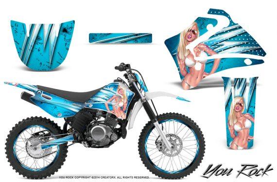 Yamaha TTR125 CreatorX Graphics Kit You Rock BlueIce NP Rims 570x376 - Yamaha TTR125 2000-2019 Graphics