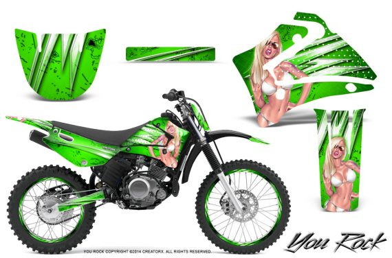 Yamaha TTR125 CreatorX Graphics Kit You Rock Green NP Rims 570x376 - Yamaha TTR125 2000-2019 Graphics