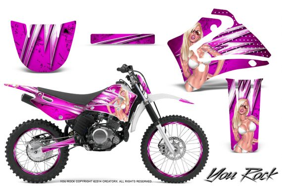 Yamaha TTR125 CreatorX Graphics Kit You Rock Pink NP Rims 570x376 - Yamaha TTR125 2000-2019 Graphics