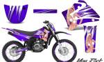 Yamaha TTR125 CreatorX Graphics Kit You Rock Purple NP Rims 150x90 - Yamaha TTR125 2000-2019 Graphics