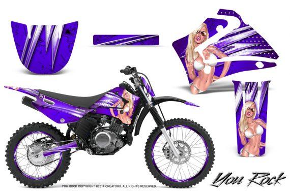 Yamaha TTR125 CreatorX Graphics Kit You Rock Purple NP Rims 570x376 - Yamaha TTR125 2000-2019 Graphics