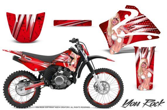 Yamaha TTR125 CreatorX Graphics Kit You Rock Red NP Rims 570x376 - Yamaha TTR125 2000-2019 Graphics