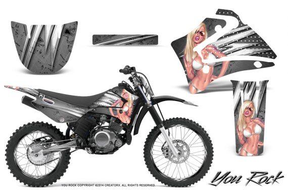 Yamaha TTR125 CreatorX Graphics Kit You Rock Silver NP Rims 570x376 - Yamaha TTR125 2000-2019 Graphics