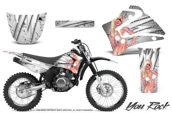 Yamaha TTR125 CreatorX Graphics Kit You Rock White NP Rims 570x376 - Yamaha TTR125 2000-2019 Graphics