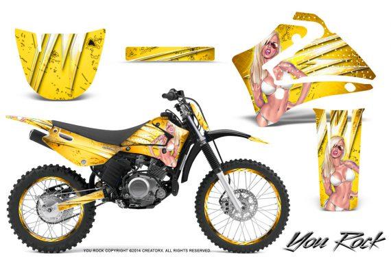 Yamaha TTR125 CreatorX Graphics Kit You Rock Yellow NP Rims 570x376 - Yamaha TTR125 2000-2019 Graphics