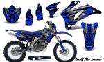 Yamaha WR 250 450 07 10 CreatorX Graphics Kit Bolt Thrower Blue NP Rims 150x90 - Yamaha WR450F 2007-2011 Graphics