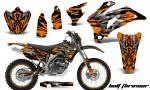 Yamaha WR 250 450 07 10 CreatorX Graphics Kit Bolt Thrower Orange NP Rims 150x90 - Yamaha WR450F 2007-2011 Graphics