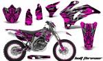 Yamaha WR 250 450 07 10 CreatorX Graphics Kit Bolt Thrower Pink NP Rims 150x90 - Yamaha WR450F 2007-2011 Graphics