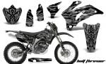 Yamaha WR 250 450 07 10 CreatorX Graphics Kit Bolt Thrower Silver NP Rims 150x90 - Yamaha WR450F 2007-2011 Graphics