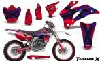 Yamaha WR 250 450 07 10 CreatorX Graphics Kit TribalX Blue Red NP Rims 150x90 - Yamaha WR450F 2007-2011 Graphics