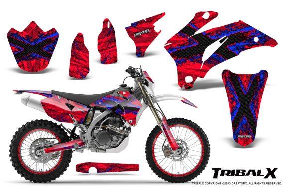 Yamaha WR 250 450 07 10 CreatorX Graphics Kit TribalX Blue Red NP Rims 570x376 - Yamaha WR450F 2007-2011 Graphics