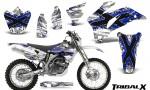 Yamaha WR 250 450 07 10 CreatorX Graphics Kit TribalX Blue White NP Rims 150x90 - Yamaha WR450F 2007-2011 Graphics