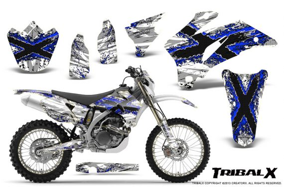 Yamaha WR 250 450 07 10 CreatorX Graphics Kit TribalX Blue White NP Rims 570x376 - Yamaha WR450F 2007-2011 Graphics