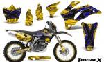 Yamaha WR 250 450 07 10 CreatorX Graphics Kit TribalX Blue Yellow NP Rims 150x90 - Yamaha WR450F 2007-2011 Graphics