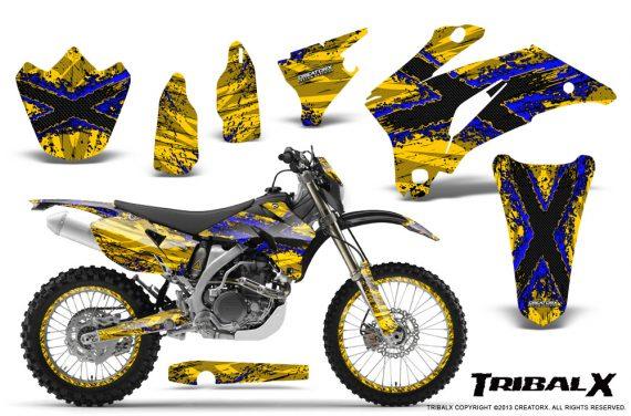 Yamaha WR 250 450 07 10 CreatorX Graphics Kit TribalX Blue Yellow NP Rims 570x376 - Yamaha WR450F 2007-2011 Graphics