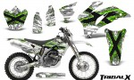 Yamaha WR 250 450 07 10 CreatorX Graphics Kit TribalX Green White NP Rims 150x90 - Yamaha WR450F 2007-2011 Graphics