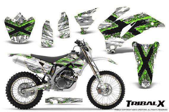 Yamaha WR 250 450 07 10 CreatorX Graphics Kit TribalX Green White NP Rims 570x376 - Yamaha WR450F 2007-2011 Graphics