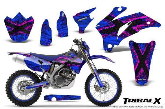 Yamaha WR 250 450 07 10 CreatorX Graphics Kit TribalX Pink Blue NP Rims 570x376 - Yamaha WR450F 2007-2011 Graphics