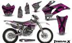 Yamaha WR 250 450 07 10 CreatorX Graphics Kit TribalX Pink Silver NP Rims 150x90 - Yamaha WR450F 2007-2011 Graphics