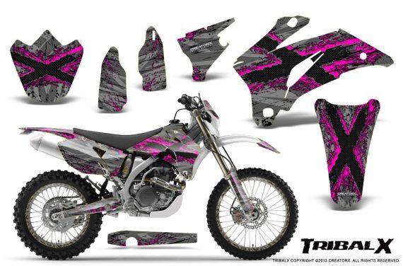 Yamaha WR 250 450 07 10 CreatorX Graphics Kit TribalX Pink Silver NP Rims 570x376 - Yamaha WR450F 2007-2011 Graphics