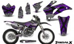 Yamaha WR 250 450 07 10 CreatorX Graphics Kit TribalX Purple Silver NP Rims 150x90 - Yamaha WR450F 2007-2011 Graphics