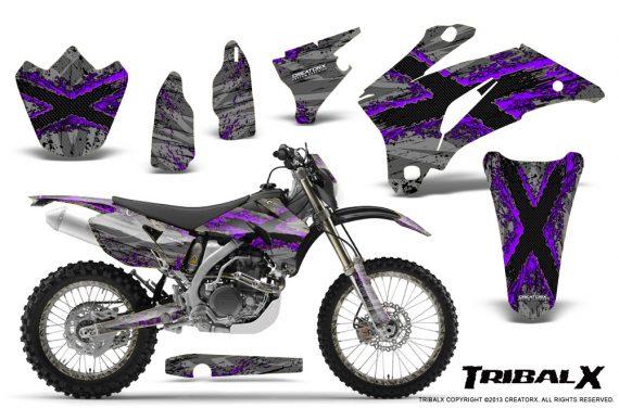 Yamaha WR 250 450 07 10 CreatorX Graphics Kit TribalX Purple Silver NP Rims 570x376 - Yamaha WR450F 2007-2011 Graphics