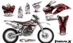 Yamaha WR 250 450 07 10 CreatorX Graphics Kit TribalX Red White NP Rims 150x90 - Yamaha WR450F 2007-2011 Graphics