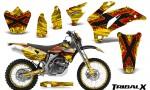 Yamaha WR 250 450 07 10 CreatorX Graphics Kit TribalX Red Yellow NP Rims 150x90 - Yamaha WR450F 2007-2011 Graphics