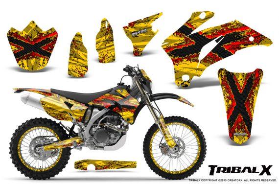 Yamaha WR 250 450 07 10 CreatorX Graphics Kit TribalX Red Yellow NP Rims 570x376 - Yamaha WR450F 2007-2011 Graphics