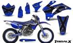 Yamaha WR 250 450 07 10 CreatorX Graphics Kit TribalX Silver Blue NP Rims 150x90 - Yamaha WR450F 2007-2011 Graphics
