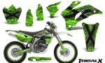 Yamaha WR 250 450 07 10 CreatorX Graphics Kit TribalX Silver Green NP Rims 150x90 - Yamaha WR450F 2007-2011 Graphics