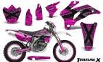 Yamaha WR 250 450 07 10 CreatorX Graphics Kit TribalX Silver Pink NP Rims 150x90 - Yamaha WR450F 2007-2011 Graphics