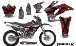 Yamaha WR 250 450 07 10 CreatorX Graphics Kit TribalX Silver Red NP Rims 150x90 - Yamaha WR450F 2007-2011 Graphics