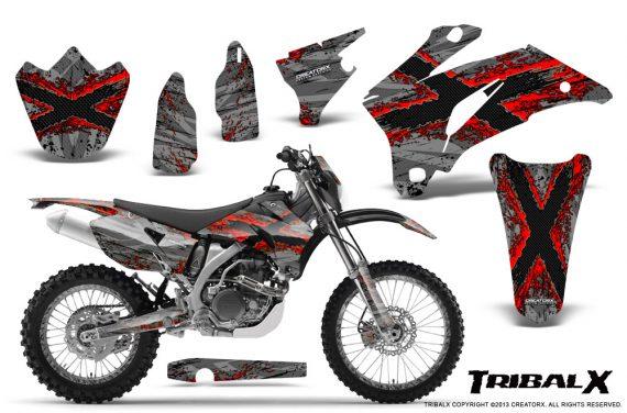 Yamaha WR 250 450 07 10 CreatorX Graphics Kit TribalX Silver Red NP Rims 570x376 - Yamaha WR450F 2007-2011 Graphics
