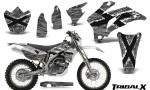 Yamaha WR 250 450 07 10 CreatorX Graphics Kit TribalX White Silver NP Rims 150x90 - Yamaha WR450F 2007-2011 Graphics