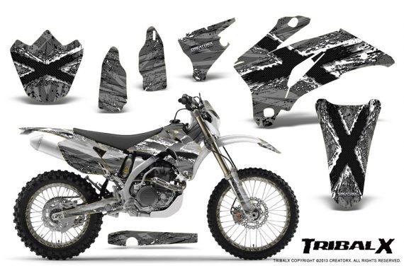 Yamaha WR 250 450 07 10 CreatorX Graphics Kit TribalX White Silver NP Rims 570x376 - Yamaha WR450F 2007-2011 Graphics